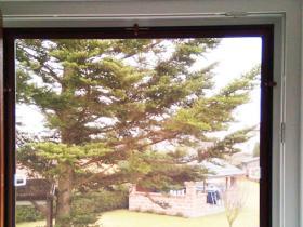 sítě imitace, pohled z interieru ven